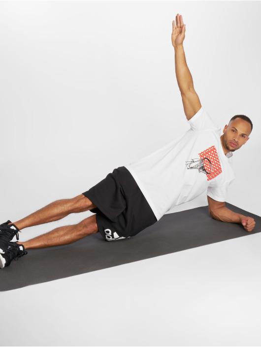 adidas Performance Urheilu T-paidat Adi Hoop valkoinen