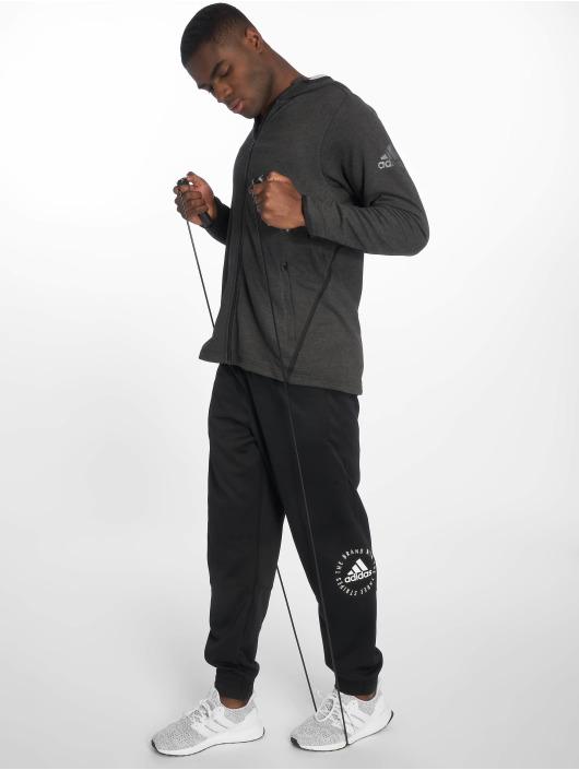 adidas Performance Zip Hoodie Climalite grey