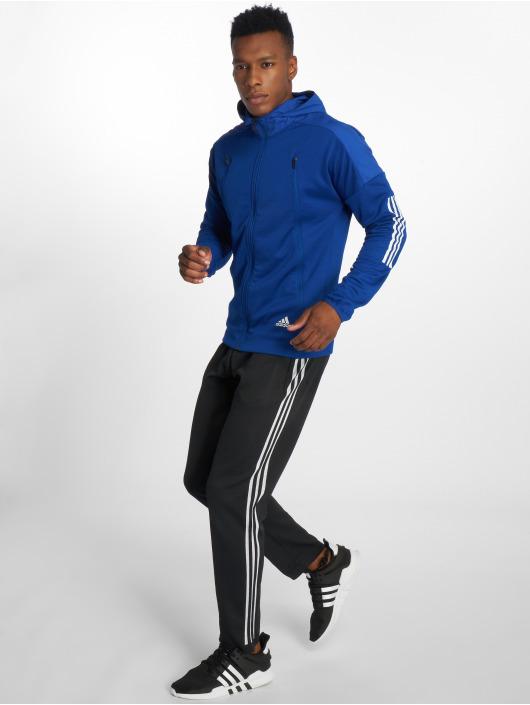 adidas Performance Zip Hoodie ID Hybrid modrá