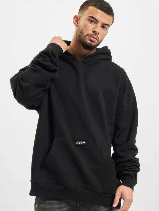 AEOM Clothing Sweat capuche Blanc Basic noir