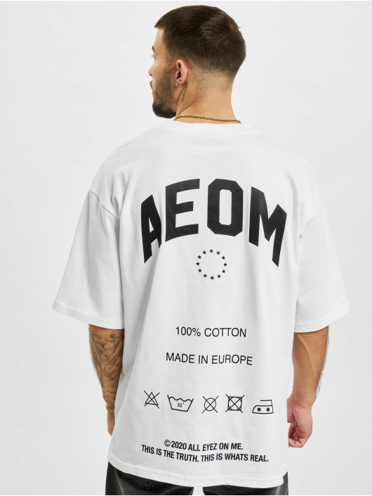 AEOM Clothing T-paidat Made In Europa valkoinen