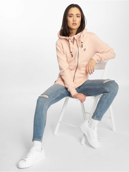 Alife & Kickin Sweat capuche zippé Yasmin rose