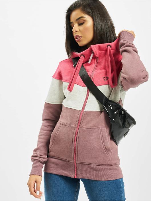 Alife & Kickin Zip Hoodie Palina pink