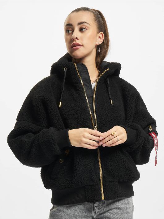 Alpha Industries Зимняя куртка Ma-1 Os Hooded Teddy Wmn черный