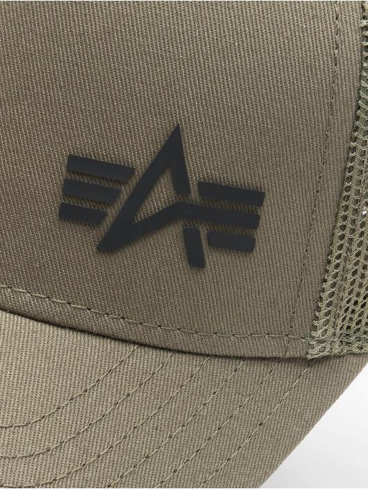 Alpha Industries Кепка тракер Small Logo зеленый