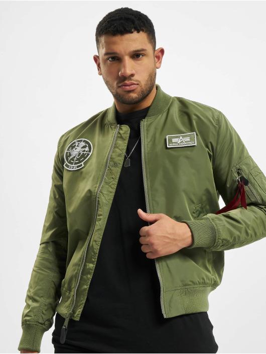 Alpha Industries Куртка-бомбардир Ma-1 TT Glow In The Dark зеленый