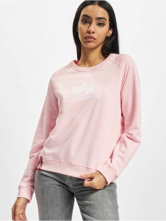 Alpha Industries Пуловер New Basic розовый