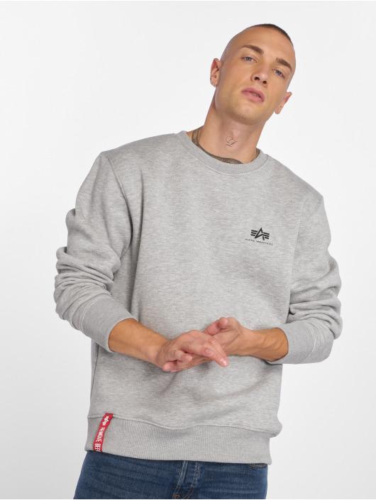 Alpha Industries Пуловер Basic Small Logo серый