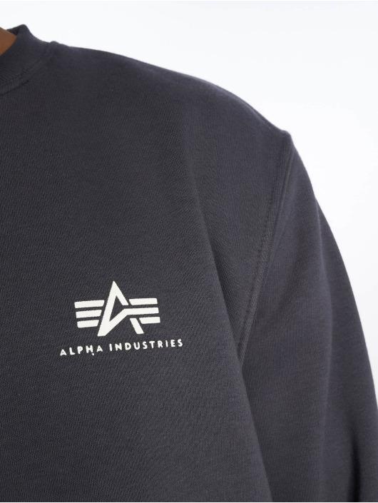 Alpha Industries Пуловер Basic Small Logo синий