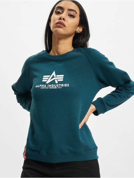 Alpha Industries Пуловер New Basic синий