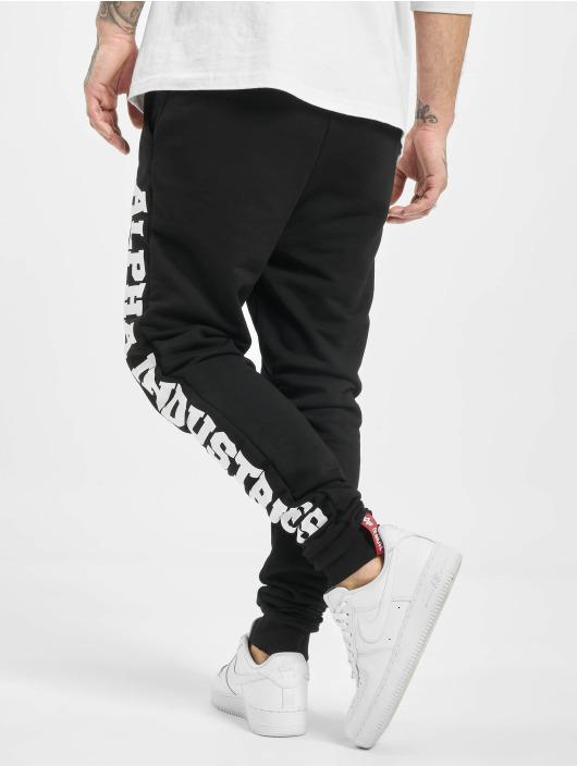 Alpha Industries Спортивные брюки Big Letters черный