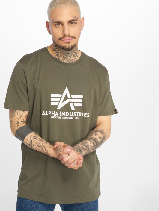 Alpha Industries Футболка Basic оливковый
