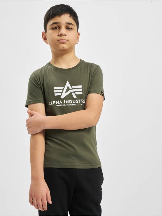 Alpha Industries Футболка Basic оливковый