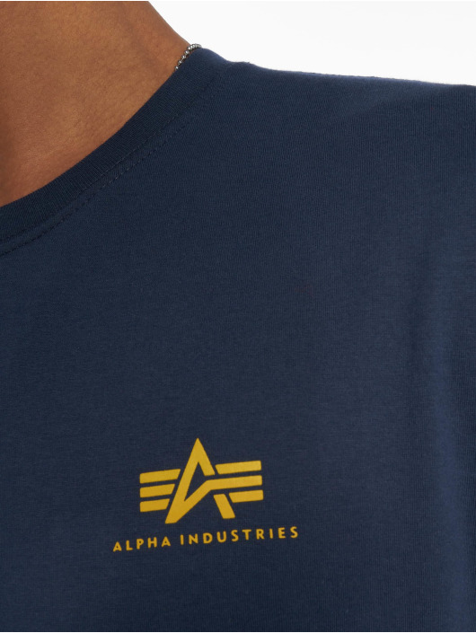 Alpha Industries Футболка Basic Small Logo синий