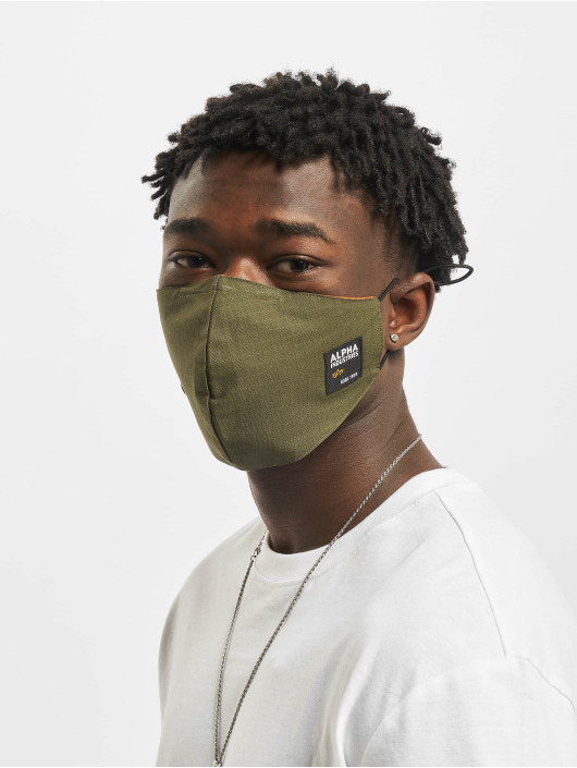 Alpha Industries Autres Label Ripstop Face Mask olive