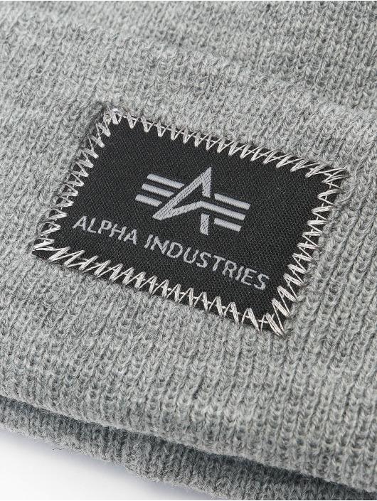Alpha Industries Beanie X-Fit grau