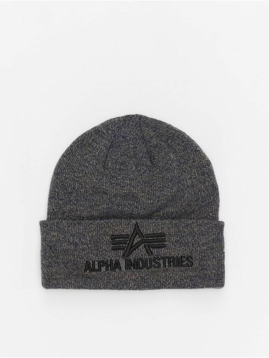 Alpha Industries Beanie 3D grigio