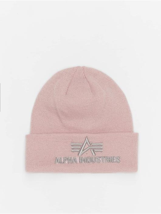 Alpha Industries Beanie 3D rosa chiaro