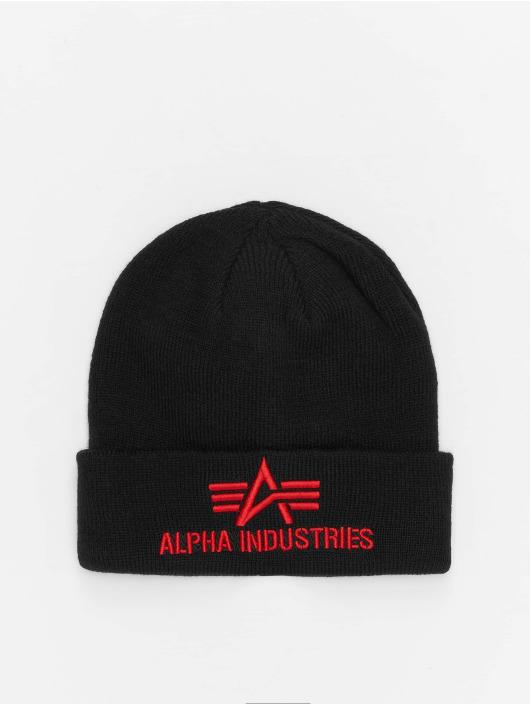 Alpha Industries Beanie 3D schwarz