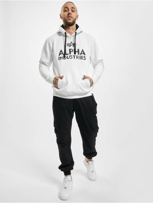 Alpha Industries Bluzy z kapturem Foam Print bialy