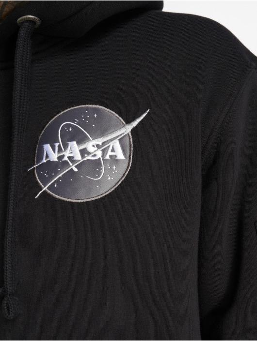 Alpha Industries Bluzy z kapturem Space Shuttle czarny