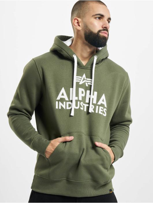 Alpha Industries Bluzy z kapturem Foam Print oliwkowy