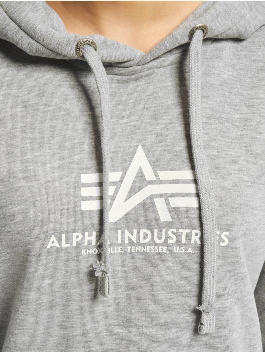 Alpha Industries Bluzy z kapturem New Basic szary