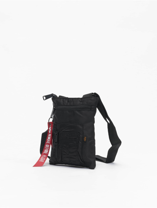 Alpha Industries Bolso Crew Messenger negro