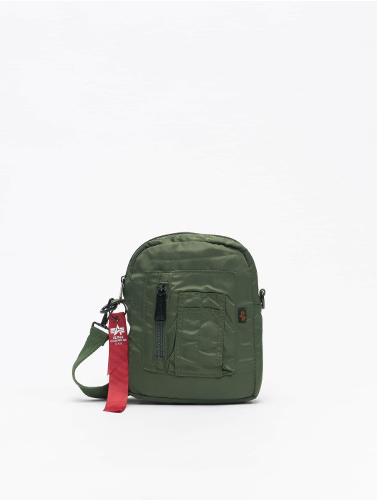 Alpha Industries Bolso Crew Carry verde