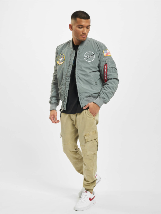 Alpha Industries Bomber Ma-1 Nasa Reflective gris