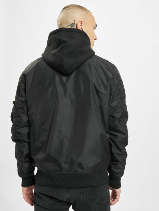 Alpha Industries Bomber jacket Ma-1 Tt Hood black