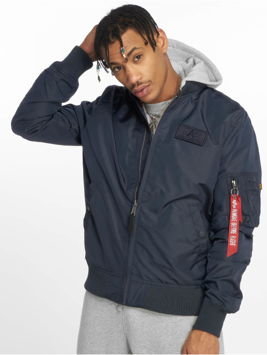 Alpha Industries Bomber jacket Ma-1 TT Hood blue