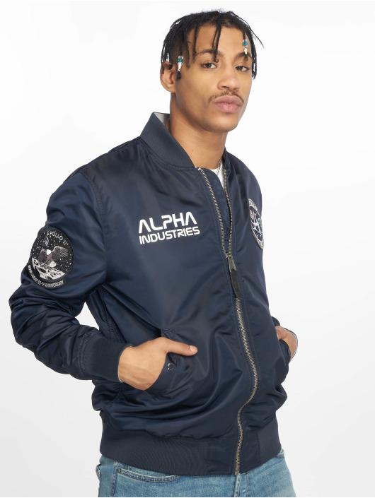 Alpha Industries Bomber jacket Ma-1 Moon Landing Rev blue