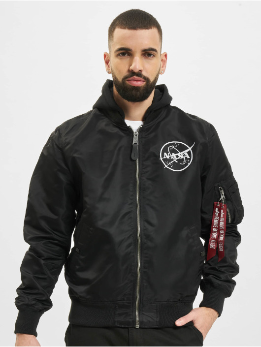 Alpha Industries Bomber Ma-1 LW HD Nasa Glow Reversible noir