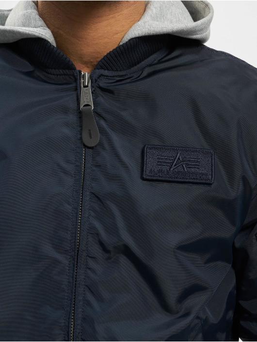3a701b5dc0ad Alpha Industries jas   Bomberjack Ma-1 TT Hood in blauw 634949