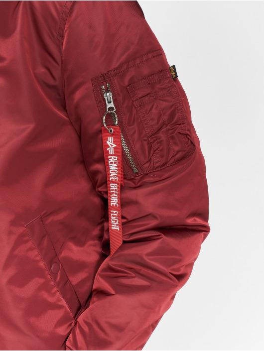 Alpha Industries Bomberjack MA-1 Hooded rood