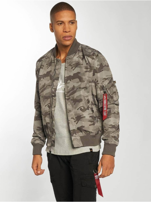 Alpha Industries MA 1 TT Jacket Grey Camo