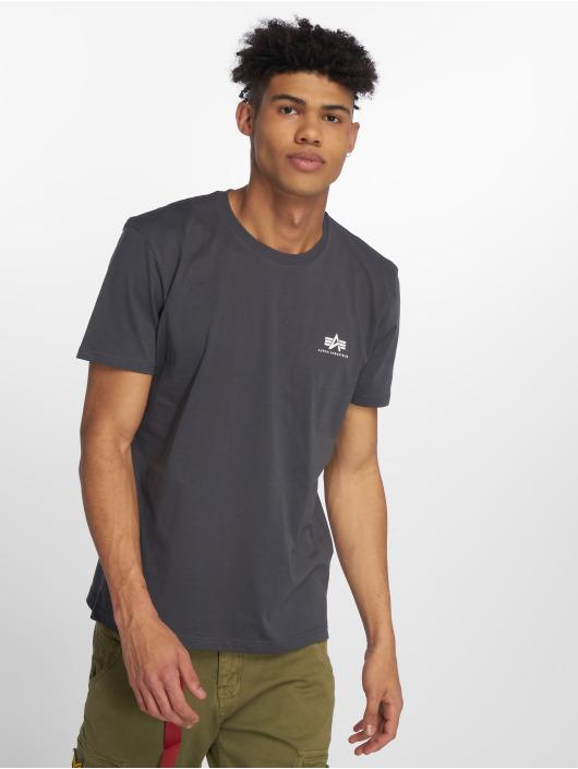Alpha Industries Camiseta Basic Small Logo gris