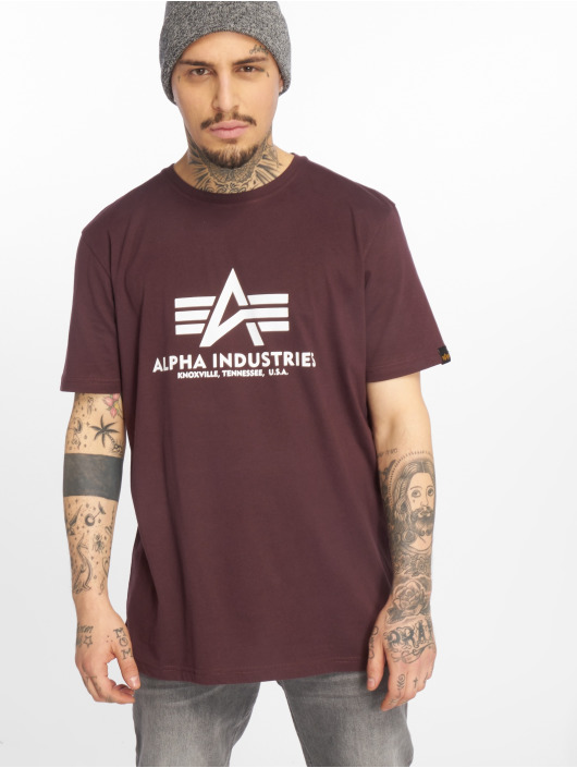 Alpha Industries Camiseta Basic rojo