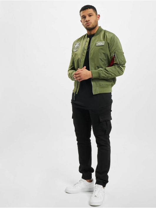 Alpha Industries Cazadora bomber Ma-1 TT Glow In The Dark verde