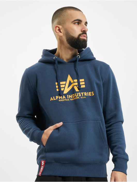 Alpha Industries Felpa con cappuccio Basic blu