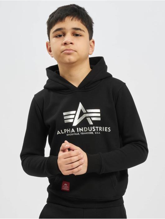 Alpha Industries Felpa con cappuccio Basic nero