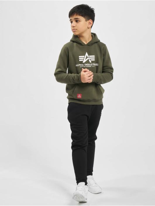 Alpha Industries Felpa con cappuccio Basic oliva