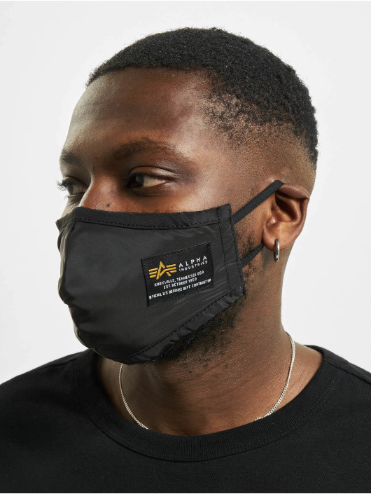 Alpha Industries Gadget Crew Face Mask nero