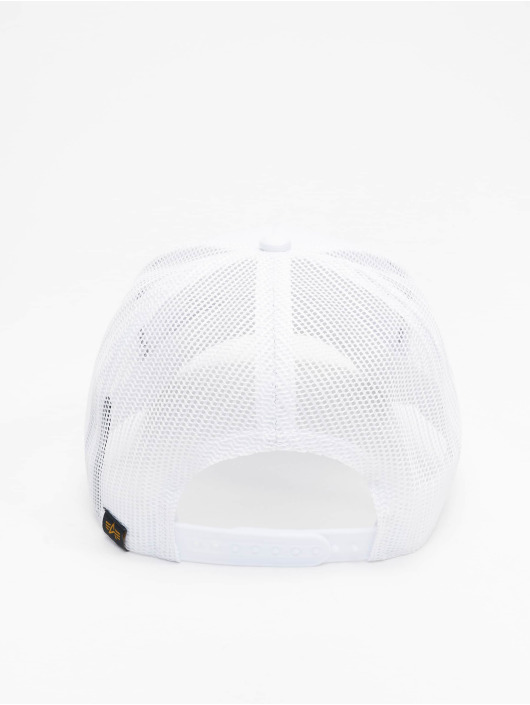 Alpha Industries Gorra Trucker Small Logo blanco