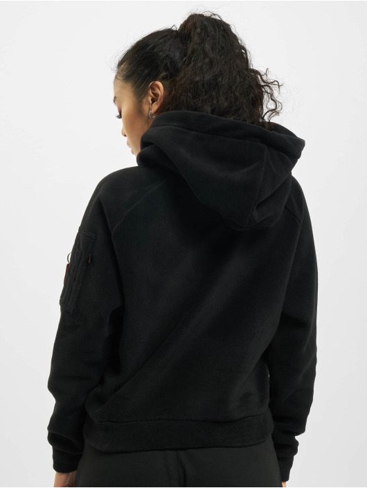 Alpha Industries Hoodie Polar Fleece black