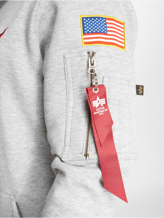 Alpha Industries Hoodie Space Shuttle gray