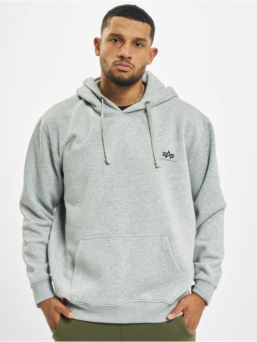 Alpha Industries Hoodie Small Logo Basic grey