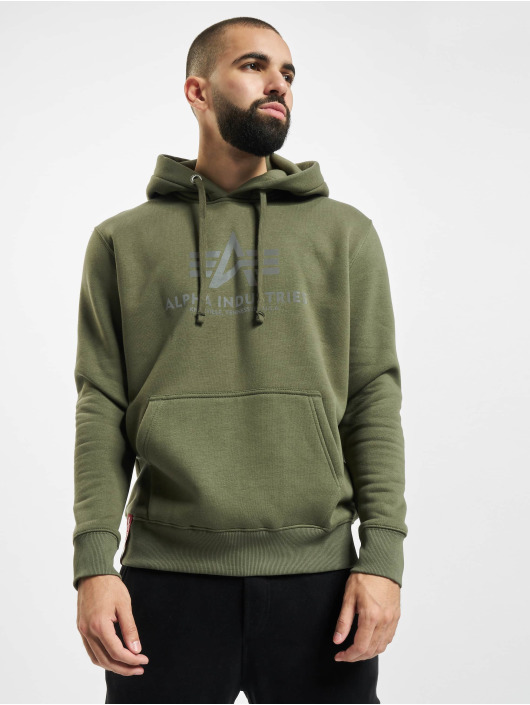 Alpha Industries Hoodie Basic Reflective olive
