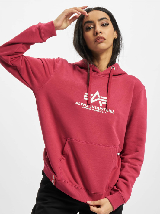 Alpha Industries Hoodie New Basic red